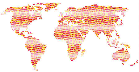 globally: colorfull world Illustration