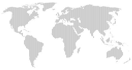 globalism: gray world map silhouette