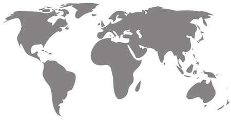 gray world map silhouette