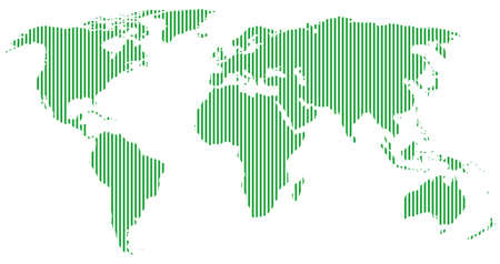 globally: green world map Illustration