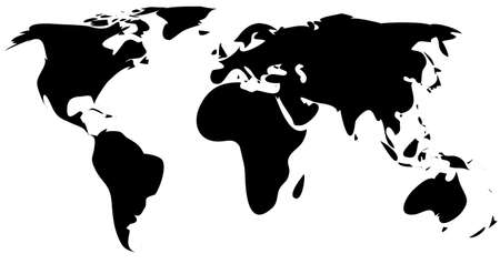 Simple World Map Royalty Free Cliparts, Vectors, And Stock ...