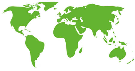 globalism: green world map Illustration