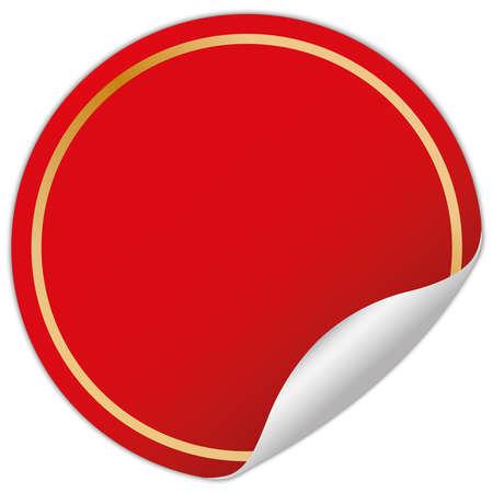 rot runder Aufkleber