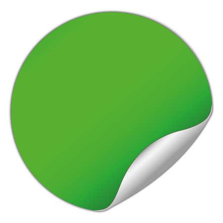 round green sticker Illustration