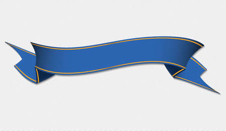 blue ribbon banner vector illustration