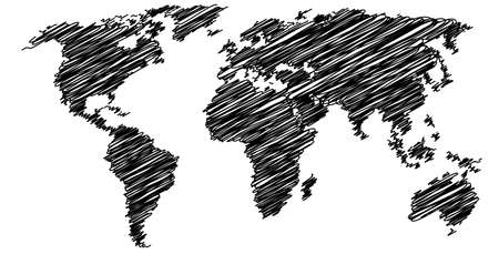 globally: simple drawing world map