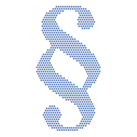 tax attorney: blue paragraph sign Illustration