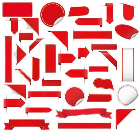 big red stickers set