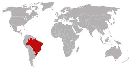 globalism: Brazil on the world map
