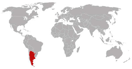 globalism: argentina on the world map Illustration