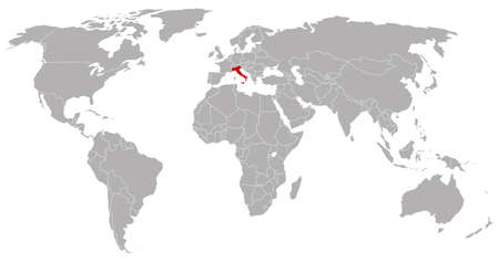 globalism: Italy on the world map