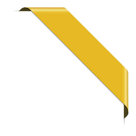 Yellow corner ribbon banner with pace for your text 向量圖像