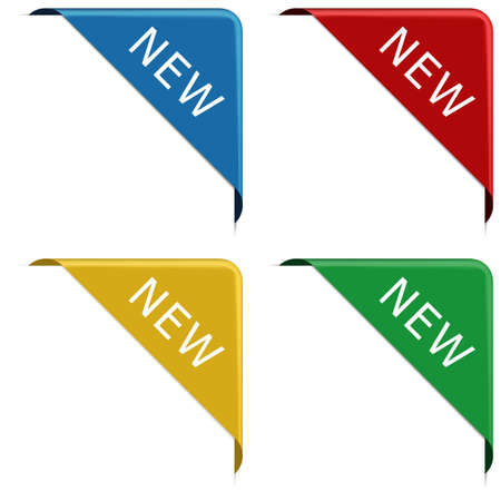 NEW - corner ribbon banner with pace for your text