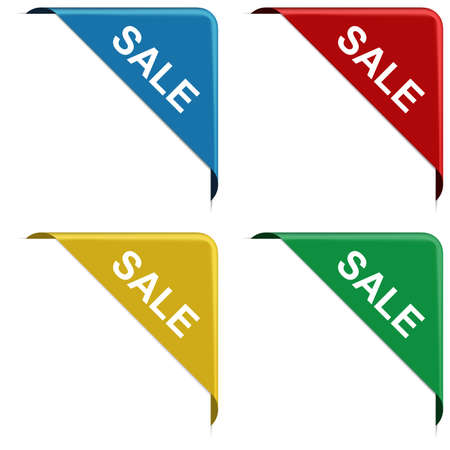 SALE - corner ribbon banners set with pace for your text