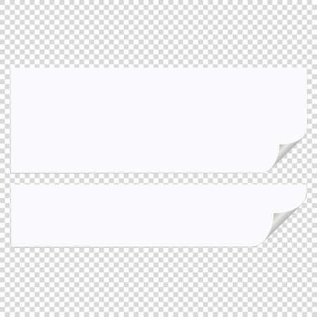 White note paper on transparent background Illustration