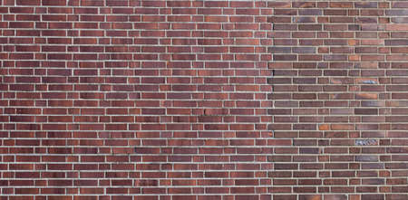 Old red brick wall background - texture of brickwall Stockfoto