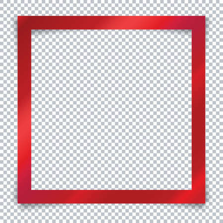 Red frame on transparent background