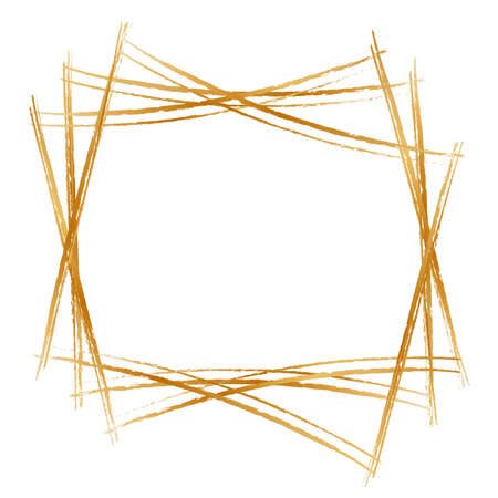 Golden frame isolated on whitebackground