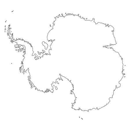 Carte de l'Antarctique sur fond blanc Vecteurs