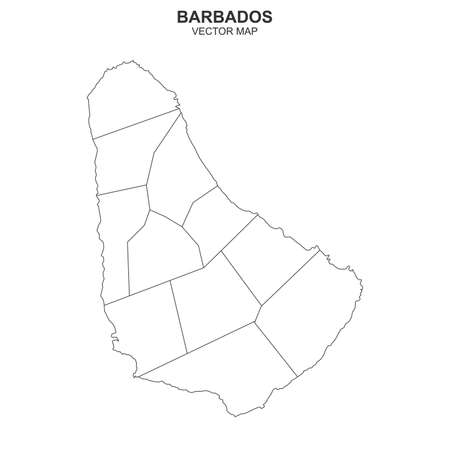 Vector map of barbados on white background