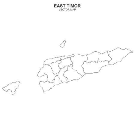 Vector political map of East TImor on white background Иллюстрация