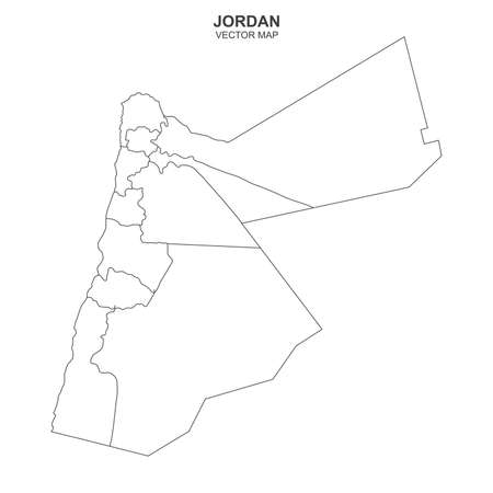 Political map of Jordan isolated on white background Фото со стока - 139573151
