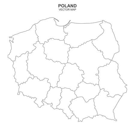 Vector map of Poland on white background Фото со стока - 139573627