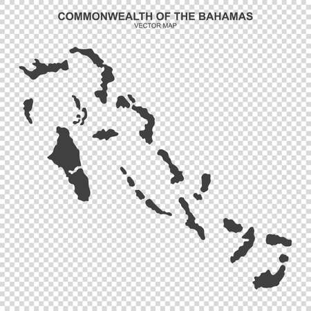 Vector map of bahamas on transparent background