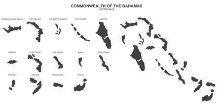 Vector map of bahamas on white background