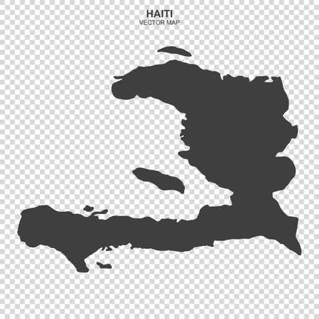 Map of Haiti isolated on transparent background