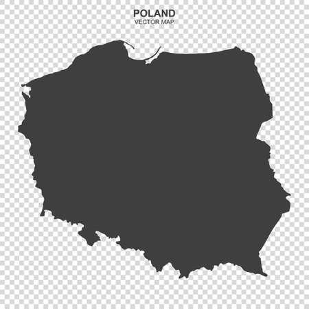 Vektorkarte von Polen auf transparentem Hintergrund