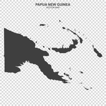 Political map of Papua New Guinea isolated on transparent background