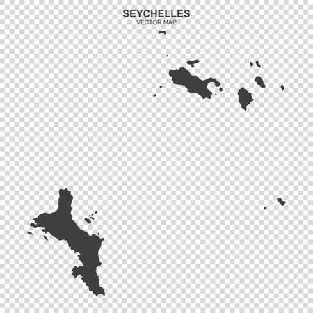 Political map of Seychelles isolated on transparent background
