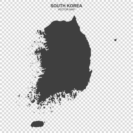 Political map of South Korea isolated on transparent background
