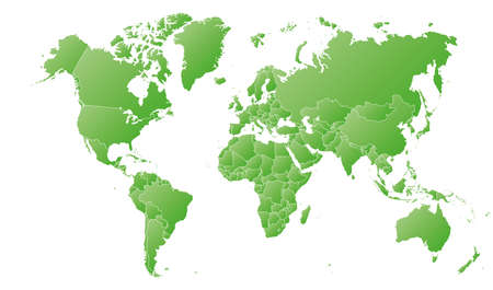High detail political world map with country borders. vector illustration of earth map