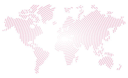 High detail lines world map. vector illustration of earth map