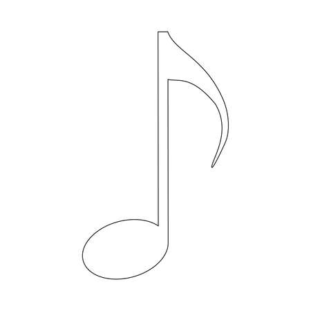 icon of music note on white background Ilustração
