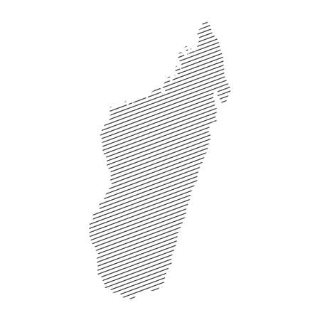 lines map of Madagascar isolated on white background 일러스트