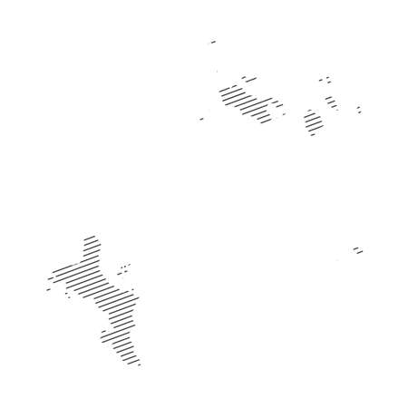lines map of Seychelles isolated on transparent background 일러스트