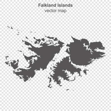 map of Falkland Islands on transparent background