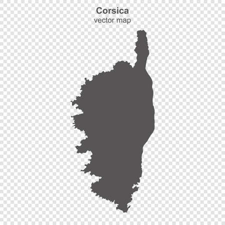 map of Corsica island on transparent background