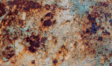 texture of rust on old grunge metal surface background