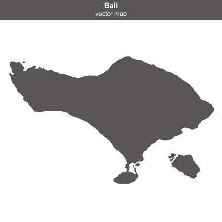 map of Bali island on white background Vector Illustration