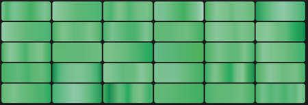 set of vector green gradients on dark background