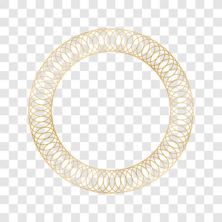 gold round frame - circle banner on transparent background