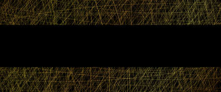 abstract vector texture of gold lines on black background