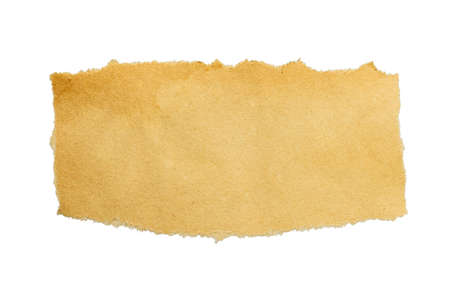 old brown grunge paper isolated on white background