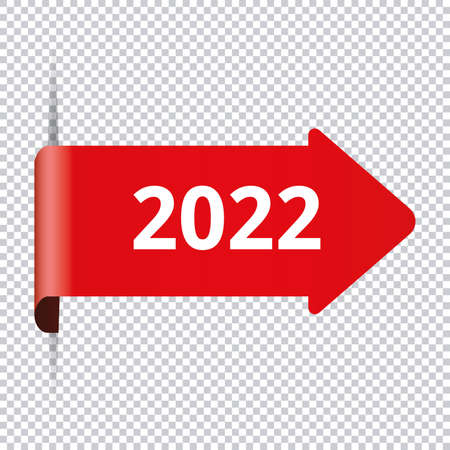 2022 New Year - red label banner