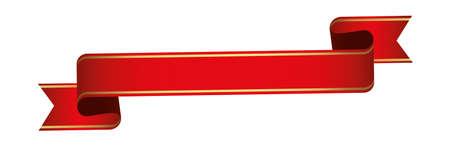 red vintage ribbon banner label