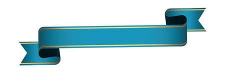 blue vintage ribbon banner label